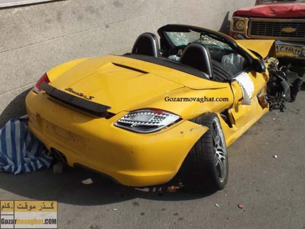 مشخصات پورشه باکستر S قیمت پورشه باکستر S عکس تصادف تصادف ماشین تصادف خودرو