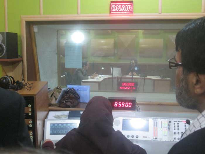 بازدید اعضای بسیج رسانه از صداوسیمای گلستان