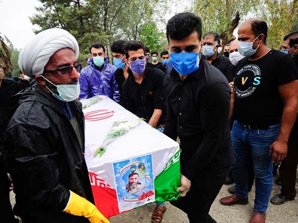 مراسم تشییع چهارمین شهید مدافع سلامت گلستان /تصاویر